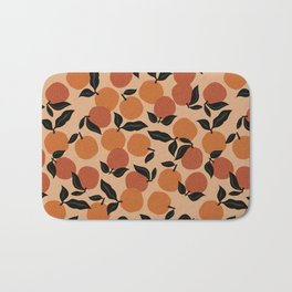 Seamless Citrus Pattern / Oranges Bath Mat