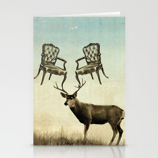 louis xv stag chairs Stationery Cards