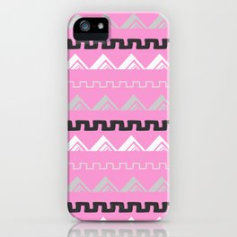 Mountains in blush pink iPhone Case