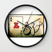 baseball Wall Clocks featuring Baseball by Funniestplace
