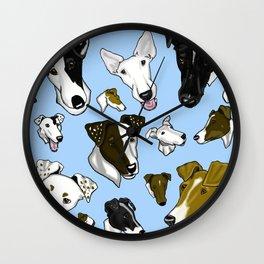 Smooth Fox Terrier Light Blue Wall Clock