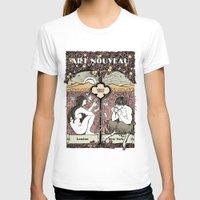 cannabis T-shirts featuring Cannabis, Art Deco by Susan Szecsi