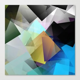 Holographic mountains in Silicon Valley. Canvas Print