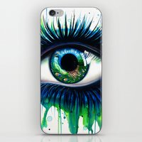 iPhone & iPod Skins featuring -The peacock- by PeeGeeArts