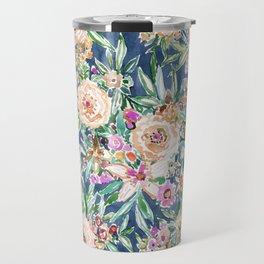 Navy MAUI MINDSET Colorful Tropical Floral Travel Mug