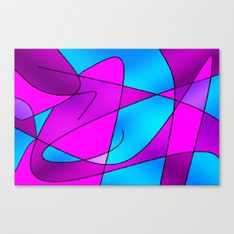 ABSTRACT CURVES #2 (Purples, Violets, Fuchsias & Turquoises) Canvas Print