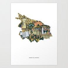 District XII. Budapest Art Print