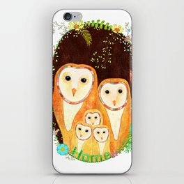Owl Family Home iPhone Skin
