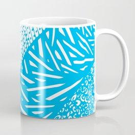 Free Hand Aqua Cyan Doodle Design Coffee Mug