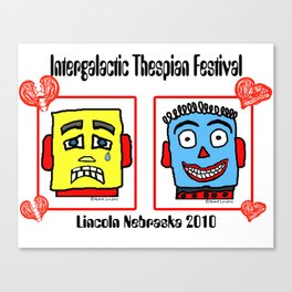 International Thespian Festival x Robot Luv tee design! Canvas Print