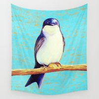 swallow Wall Tapestries featuring Swallow by Pincay