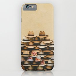 Panama Hats in Cartagena, Colombia iPhone Case