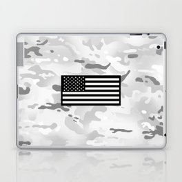 Arctic Camouflage: Black Flag Laptop & iPad Skin