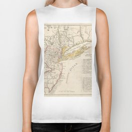 Vintage Map of New Jersey (1780) Biker Tank