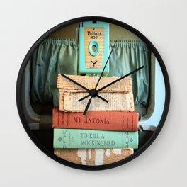 Vintage Suitcase - To Kill a Mockinbird / My Antonia Wall Clock