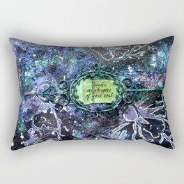 Glittery Flower Art Rectangular Pillow