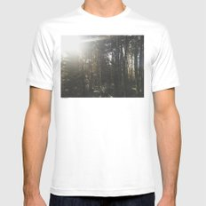 Of light & trees Mens Fitted Tee White MEDIUM
