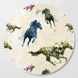 Horse Race Cutting Board