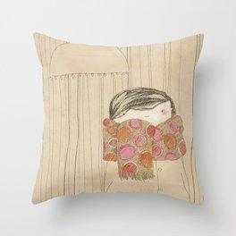"""Luisa. """"Bufandas"""" Collection Throw Pillow"""