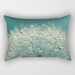 Cyan Sparkles Rectangular Pillow