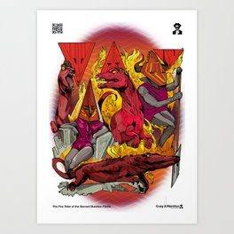 The Vulcaen Fire Tribe of The Obsidian Flame Art Print