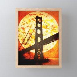 Golden Moon Framed Mini Art Print