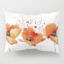 Three Poppies #society6 Pillow Sham