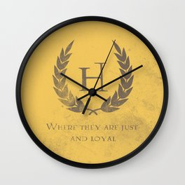 Just and Loyal Wall Clock