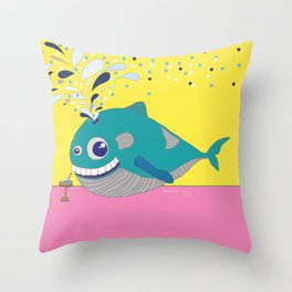 Hugo the Whale Throw Pillow