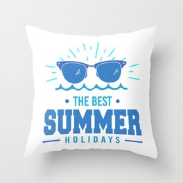 The Best Summer Holidays pb Throw Pillow