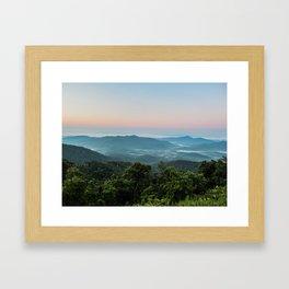 The Morning Mists Framed Art Print