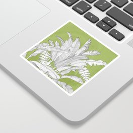 Banana Leaves Illustration - Green Sticker