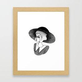 spooky girl Framed Art Print