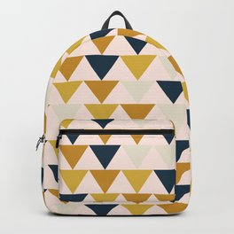 Arrows Pattern in Blush and Mustard and Navy Blue and Taupe Backpack