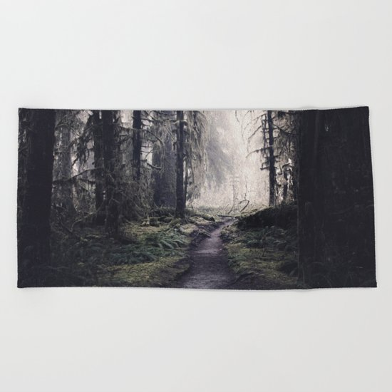 Magical Washington Rainforest Beach Towel