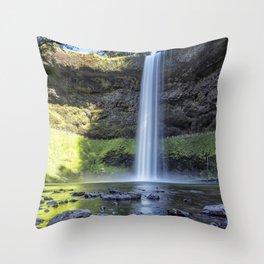 At the Foot of South Falls, No. 2 Throw Pillow
