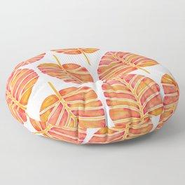 Elephant Ear Alocasia – Peach Palette Floor Pillow