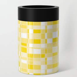 Mod Gingham - Yellow Can Cooler