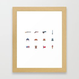 Happy National Confederacy Heroes Day Framed Art Print