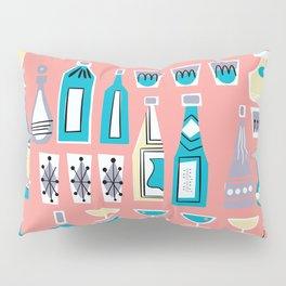 Cocktails And Drinks In Aquas and Pinks Pillow Sham