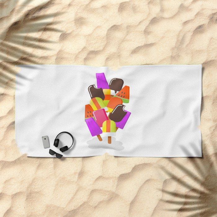Ice cream 5 Beach Towel