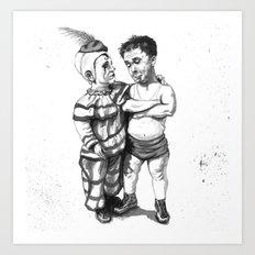 Clown Buddies Art Print