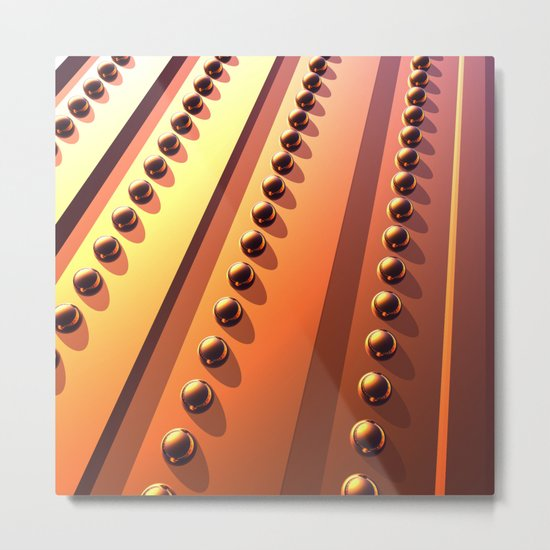 Balls and Bars Metal Print