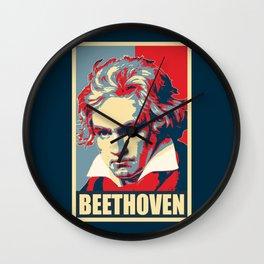 Beethoven Propaganda Poster Pop Art Wall Clock