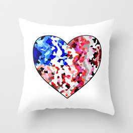 American Heart - Geometric Abstract Throw Pillow