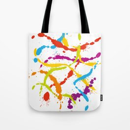 Splattered Rainbow [WHITE] Tote Bag