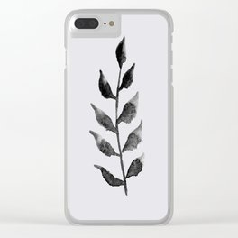 Baesic Mono Floral (Leaf 2) Clear iPhone Case