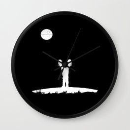 Full Black Death Wall Clock