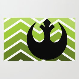Rebel Pea Green Ombre Rug