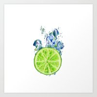 lemon Art Prints featuring Lemon by jausrine